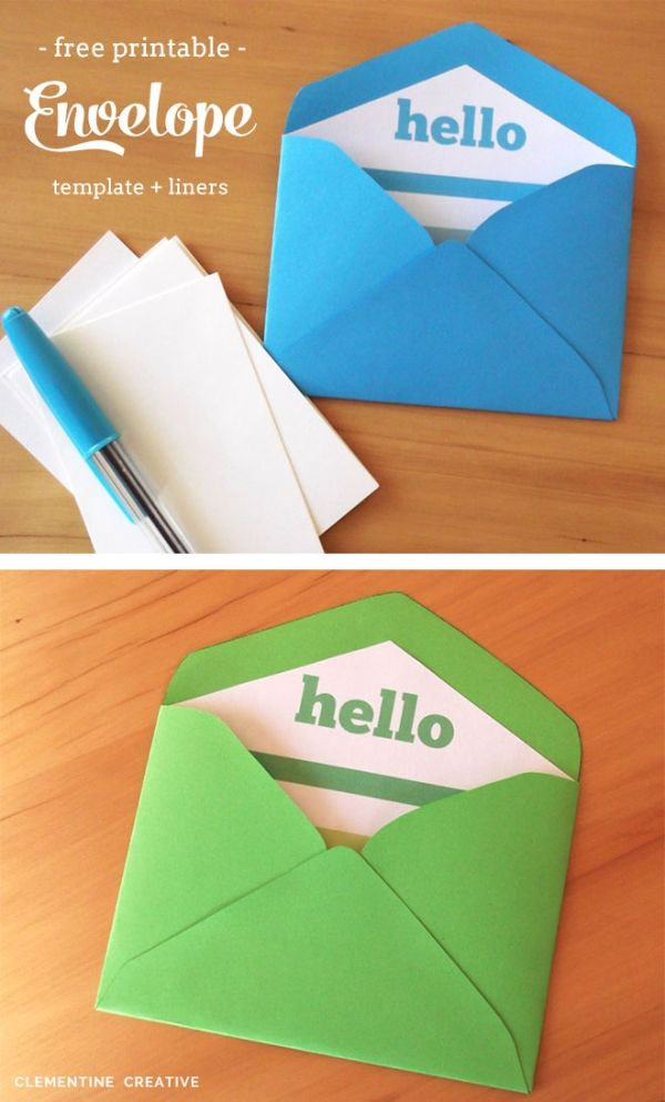 Free Printable Mini Envelope Templates and Liners by