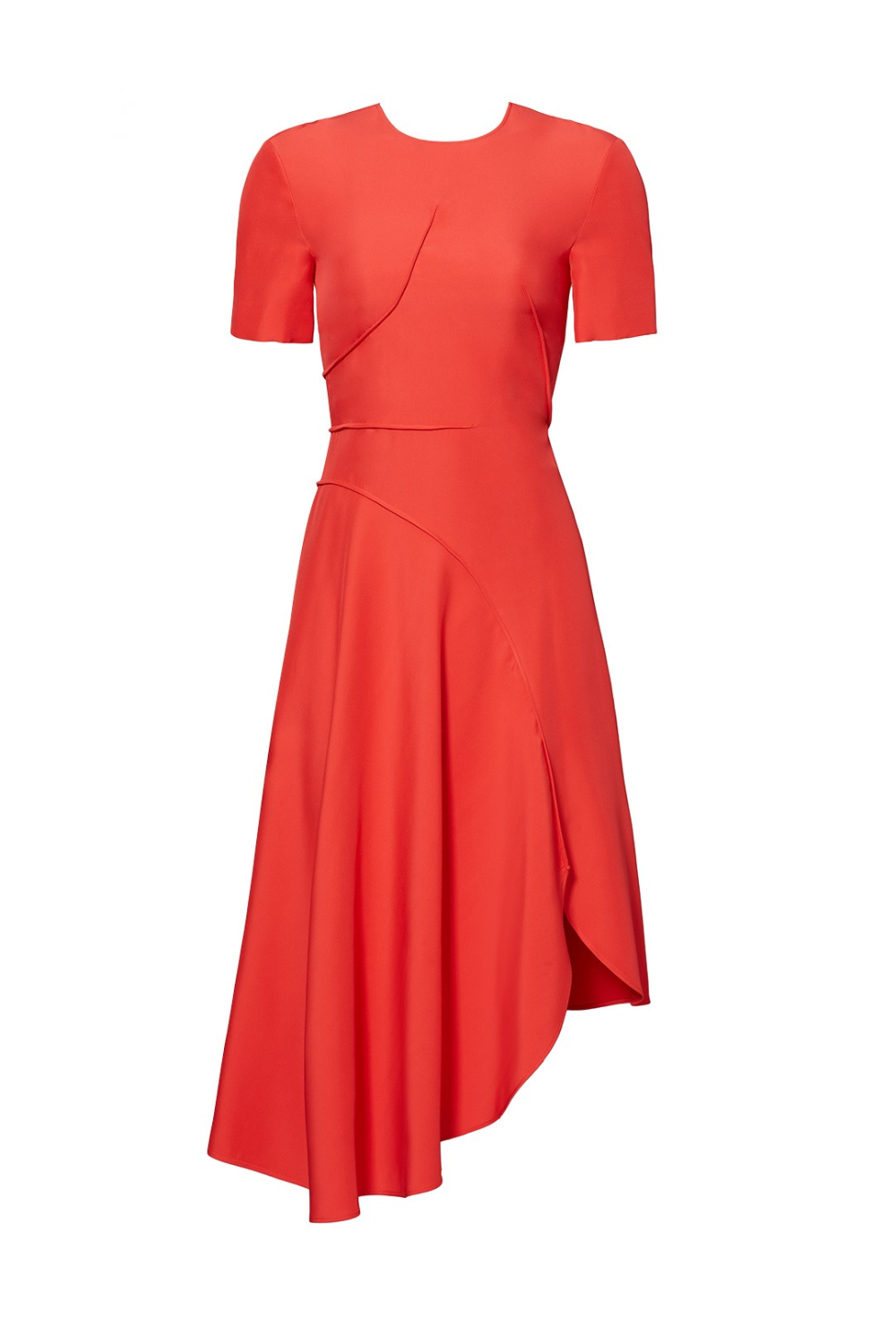 Red Asymmetrical Dress By Cedric Charlier For 89 Rent The Runway Red Asymmetrical Dress Dresses Asymmetrical Dress