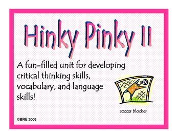 HINKY PINKY II Critical Thinking Vocabulary Development GATE ...