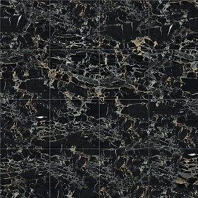 Textures Texture seamless | Portoro black marble tile texture seamless 14136 | Textures - ARCHITECTURE - TILES INTERIOR - Marble tiles - Black | Sketchuptexture