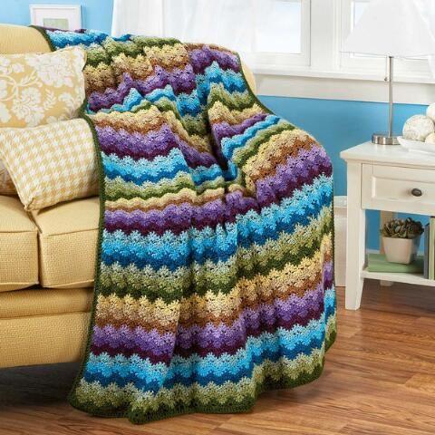 Red Heart Vineyard Country Crochet Afghan Kit 4999 Crochet