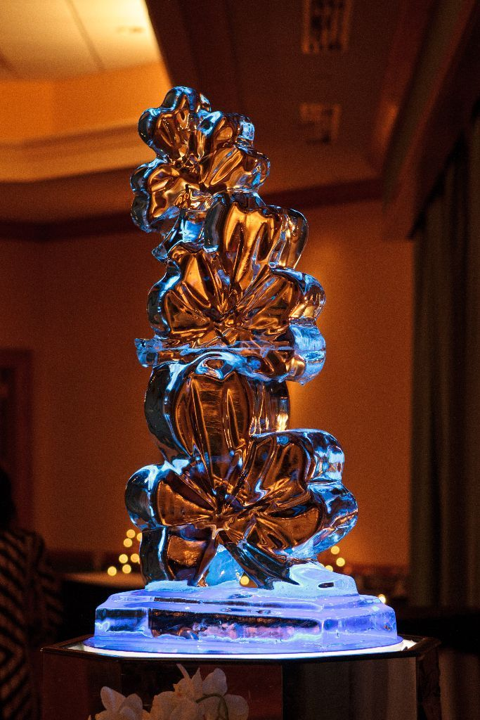 A clover ice sculpture from an Irish wedding in Buffalo