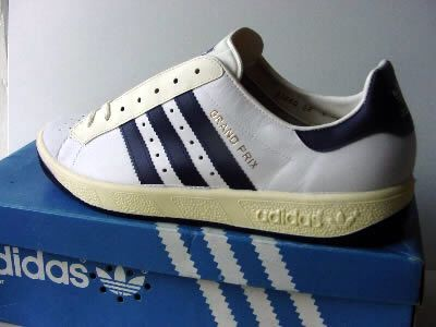 Adidas Grand Prix, white and navy | Adidas classic shoes