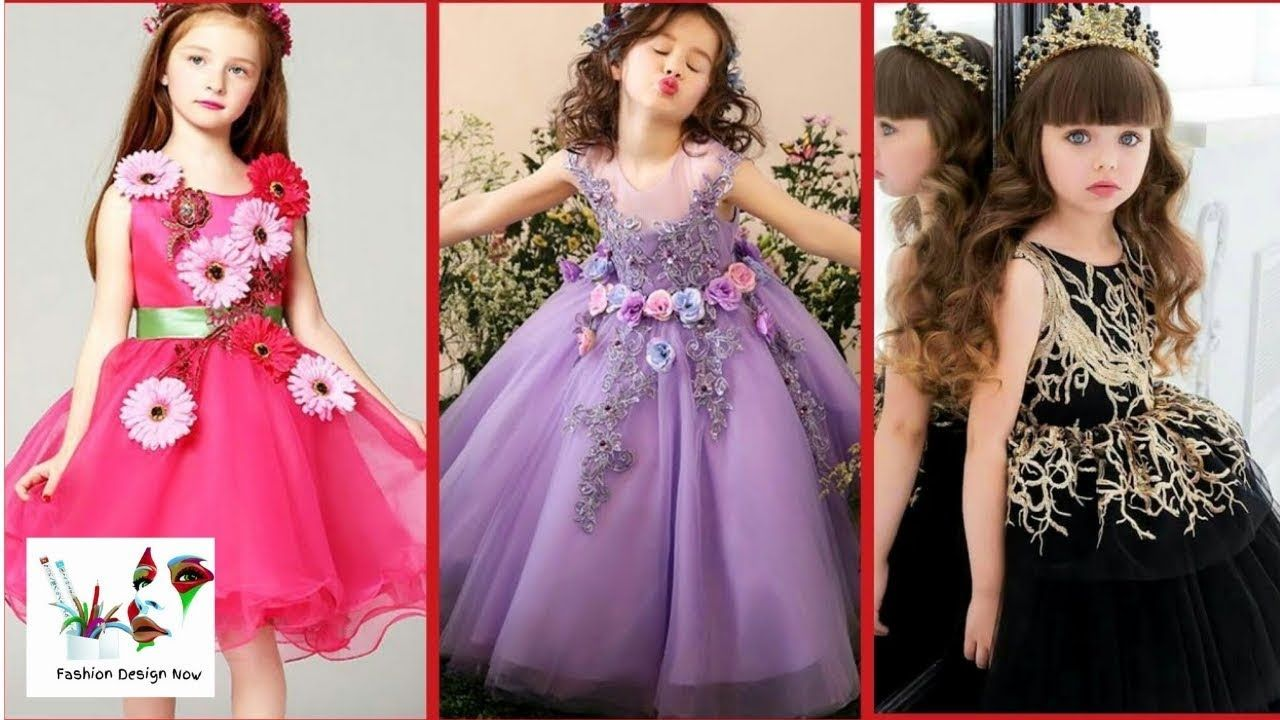 5648f8f7cd73f Latest Baby Gown Dress Designs - Kids Princess Style Frocks - Kids Party.
