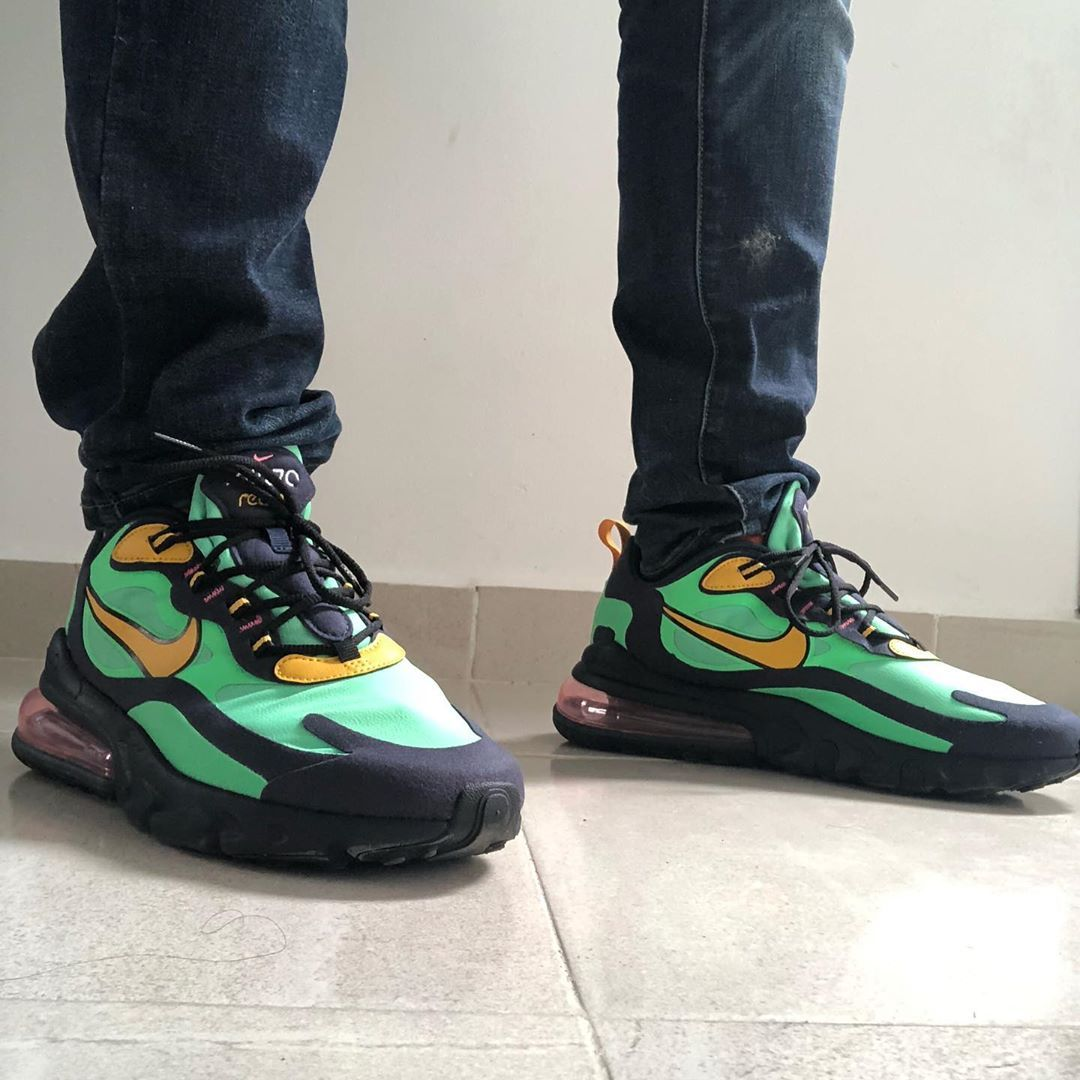 Nike Air Max 270 React In Grun Ao4971 300 In 2020 Custom Nike Shoes Nike Air Max Air Max 270