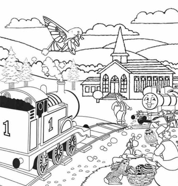 Easter Thomas The Train : Thomas The Train Easter Coloring Pages ...