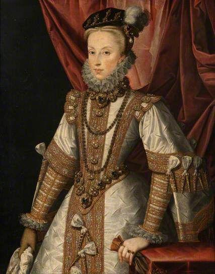 Anne D'autriche (1549-1580) : d'autriche, (1549-1580), Austria, (1549–1580)., Alonso, Sánchez, Coello., Renacentista,, Histórica,, Historia