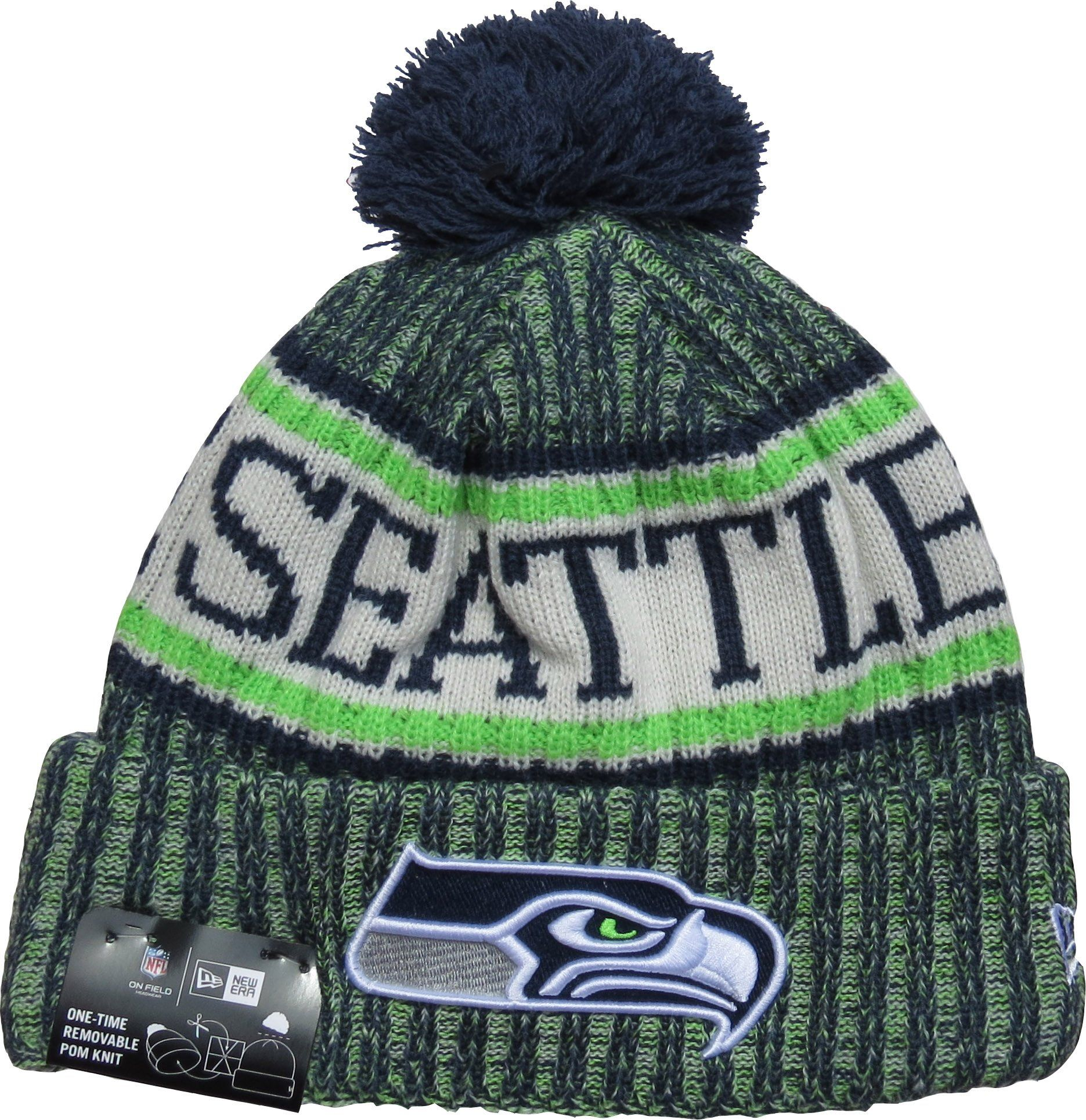 Seattle Seahawks New Era NFL On Field 2018 Sport Knit