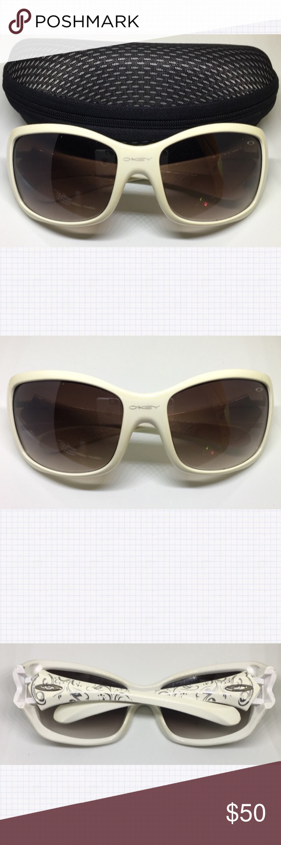 6c710cf355e3f Oakley Ravishing Polarized Sunglasses W Case 100% Authentic Pre-Owned White  Polarized Women s Sunglasses-Great Condition with a couple of very very  small ...