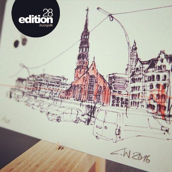 Künstler Hamburg postcards of hamburg eine neue stadtansicht titel st katharinen