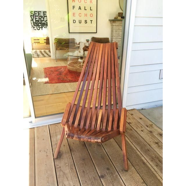 Image Of Mid-Century Style Outdoor Lounge Chair