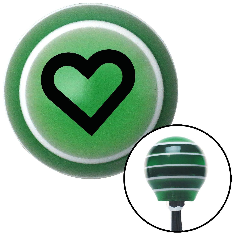 Black fat outlined heart green stripe shift knob with m16 x 15 black fat outlined heart green stripe shift knob with m16 x 15 insert biocorpaavc