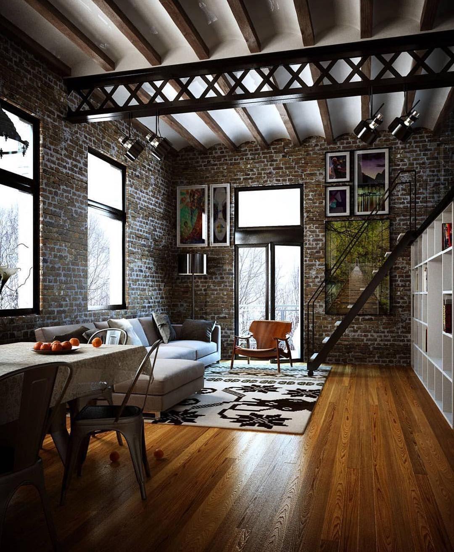 Interieur Design Moderner Wohnung Urbanen Stil | Möbelideen