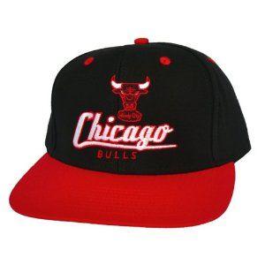 newest d5b20 99fb7 CHICAGO BULLS Retro Old School Script Snapback Hat - NBA Cap - 2 Tone  Black Red - LIMITED EDITION