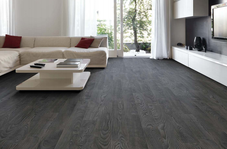 Laminated Flooring Dark Grey Google Search Grey Flooring Oak Laminate Flooring Flooring
