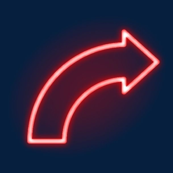 Red Neon Arrow Red Neon Light Arrow Png And Vector With Transparent Background For Free Download Neon Transparent Background Arrow