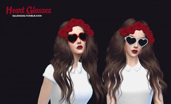 Salem2342: Heart Glasses • Sims 4 Downloads