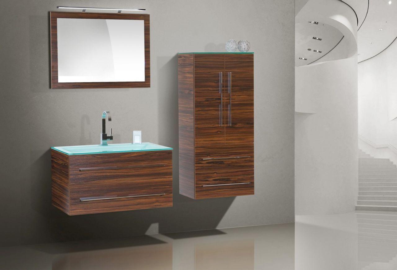 Design Badmöbel Set Glaswaschtisch 90 cm Jetzt bestellen unter ...