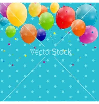 Color glossy balloons background vector - by yganko on VectorStock®