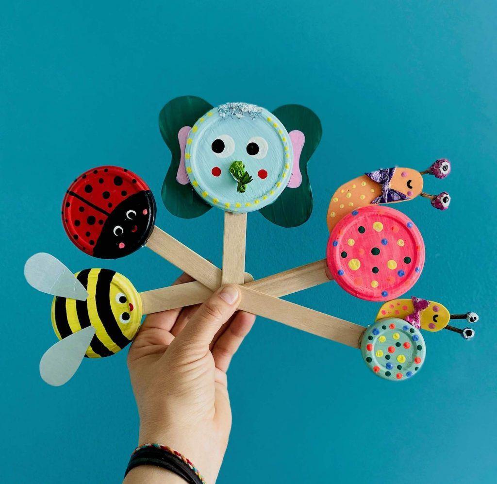 Gartendeko Basteln 3 Einfache Upcyclingideen Fur Kinder Heimatdinge Basteln Mit Dosen Sommerliche Bastelarbeiten Kinder Basteln Und Malen