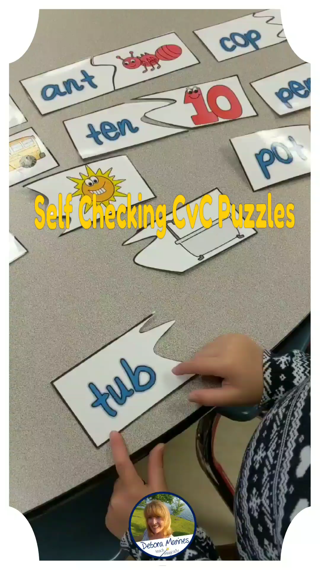 Blending Cvc Words Phonemic Awareness Puzzles