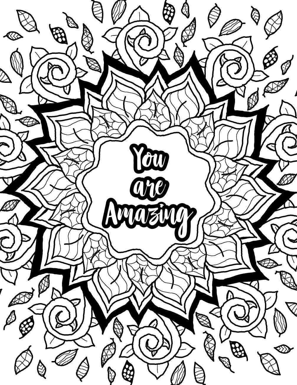 Inspirational Coloring Pages Pdf : inspirational, coloring, pages, Adult, Coloring, Books, Printables