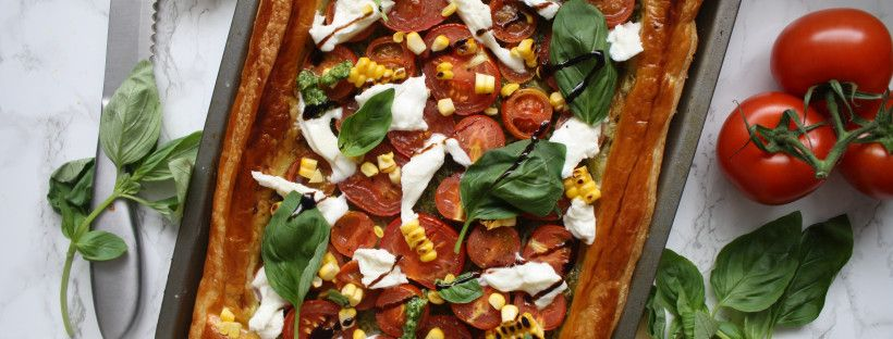 Caprese Pesto Tart // Vegan Option – Wish to Dish