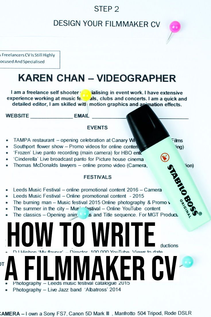 10 steps to writing your film production resume amy