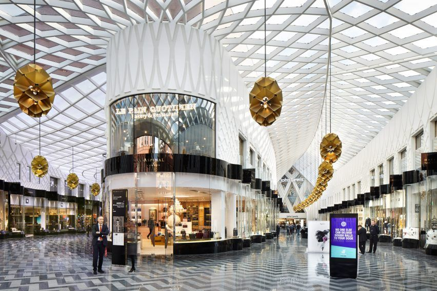 Diamond Shaped Latticework Covers Victoria Gate Shopping Centre By