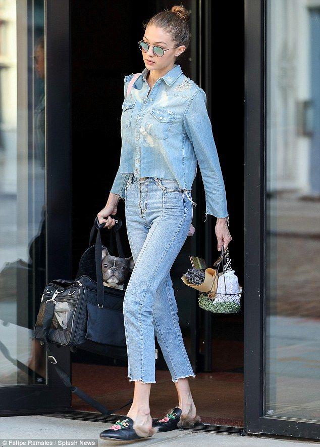 Gigi Hadid Carries Zayn Malik S French Bulldog Street