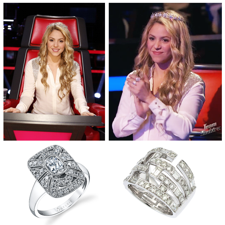 Latin pop star Shakira wore Supreme Jewelrys Baguette Diamond