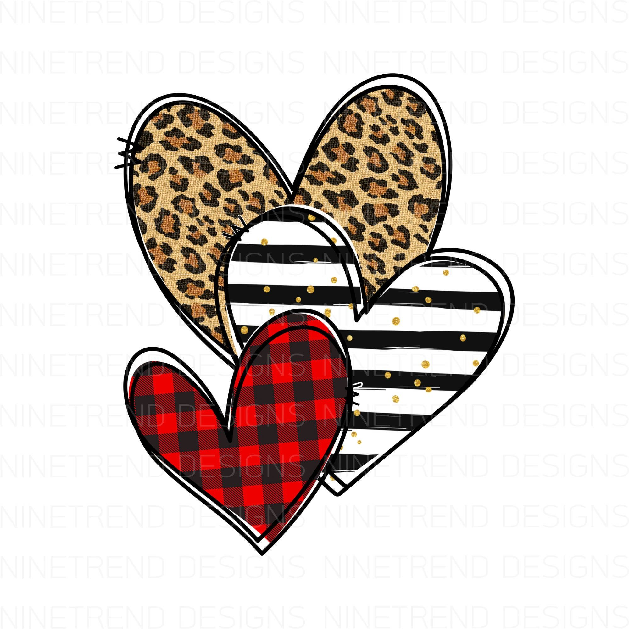 Leopard Plaid Stripe Hearts Png Sublimation Designs Downloads Digital Download Sublimation Graphics Printable Clip Art Valentines Wallpaper Drip Art Art Design