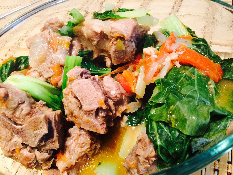 Pechay buto buto a filipino recipe for sauteed pork neck bones food forumfinder Image collections