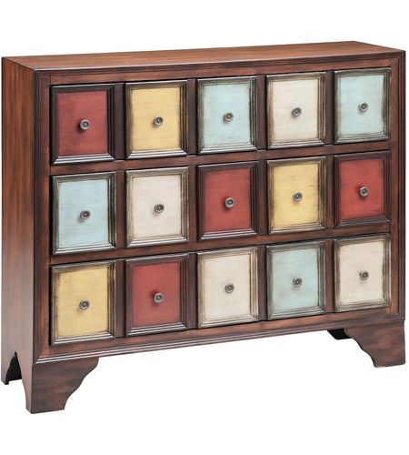 Stein World 12367 Brody Mult Colored Apothecary Chest Photo