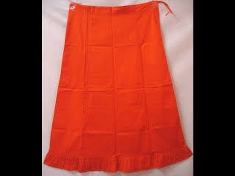 How To Cut/Measure Petticote: Saree Blouse Under Skirt Cutting ...