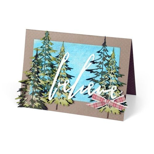 Sizzix Thinlits Die Set 2 Pk Woodlands By Tim Holtz 660978 Christmas Cards Handmade Cards Tim Holtz Cards