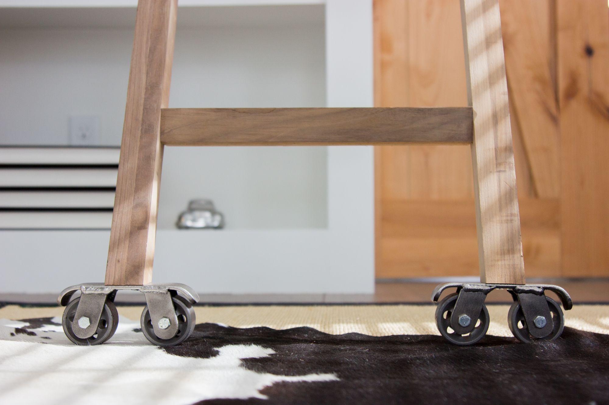 Artisan sliding ladder handcrafted furniture artisan hardware