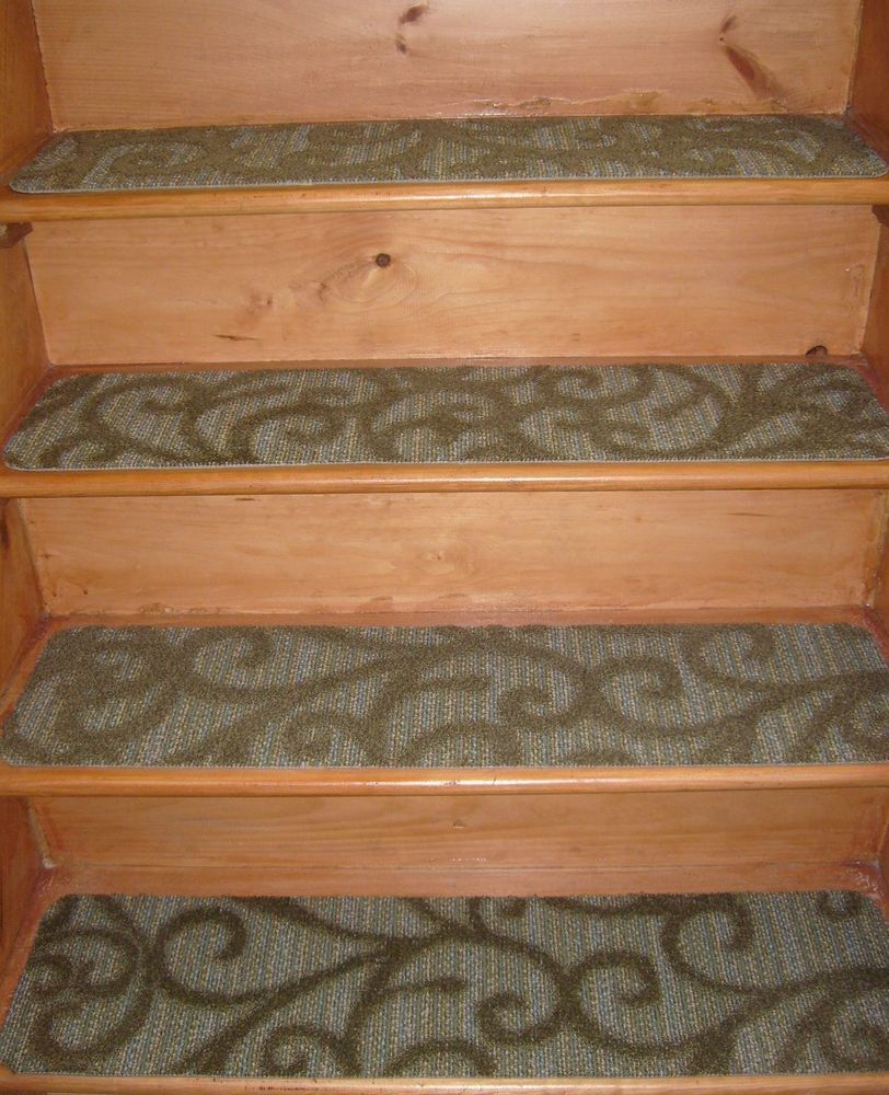 13 Step Indoor Stair Treads Non-Slip Staircase Step Rug Carpet 9\'\' x ...
