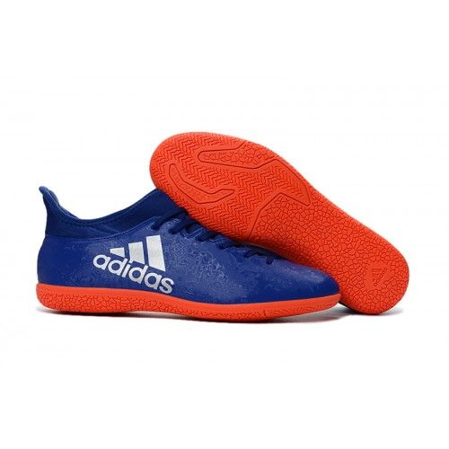 new arrival 31028 76354 Latest Adidas X 16.3 Indoor Mens Soccer Cleat Blue Orange