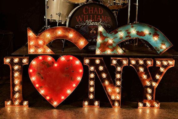 Marquee Letter, Marquee Light, Carnival Letter, Wedding Sign, Lighted  MARQUEE SIGN, Marquee Letter Fixture: I {heart} NY