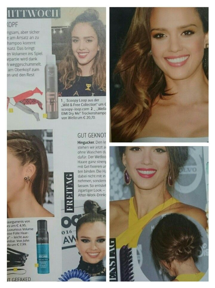 Jessica Alba 5 days 5 hairstyles