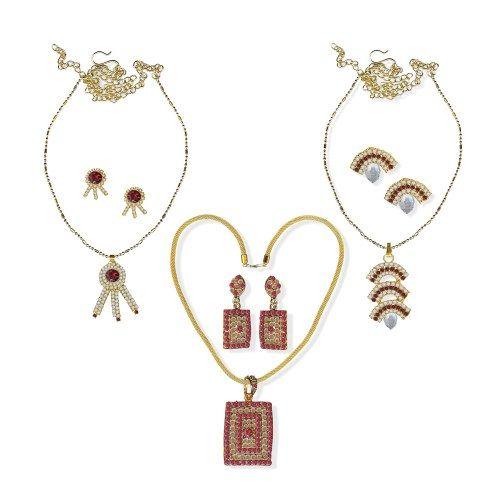Mischika Ethnic jewellery sets combo  -  CB068 - Online Shopping for Jewellery Sets by Mischika- Fashion Accessories