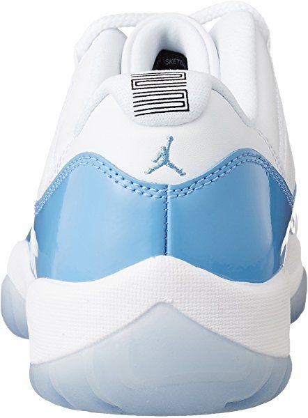 Nike Jordan Men s Jordan 11 Retro Low White University Blue Basketball Shoe  11.5 Men US 795b500ca