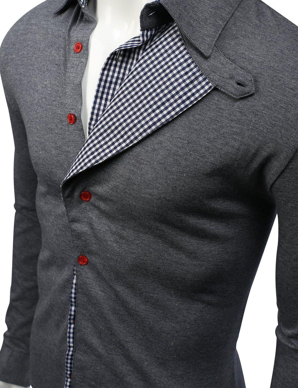 223b93e6c62df Camisas para hombre con la Doublju Modelo controlado en la tienda de ropa  de hombre Amazon  Tirantes camisas