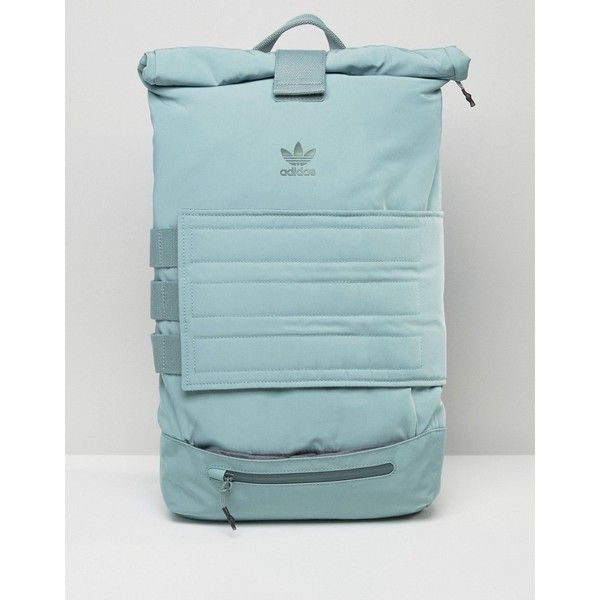 Adidas Originals Roll Top Backpack In Bluegrass 60 Liked On Polyvore Featuring Bags Backpacks Multi Daypack Bag Polyester Top Backpacks Adidas Backpack Casual Bags