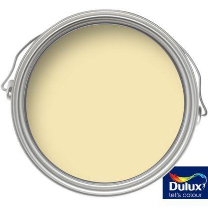 Dulux pale citrus matt emulsion paint 2 5l for Eggshell yellow paint