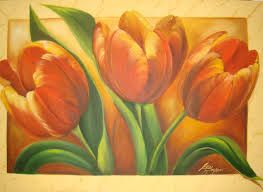 Resultado de imagem para telas a oleo de flores