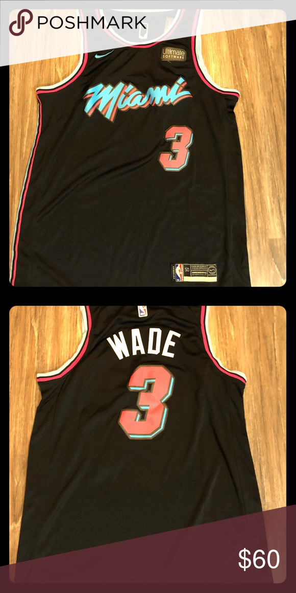 detailed look 68b95 87f64 Dwyane Wade Jersey Miami Heat Miami Nights Special edition ...