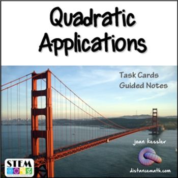 Quadratics Word Problems Task Cards Plus Guided Notes With Images