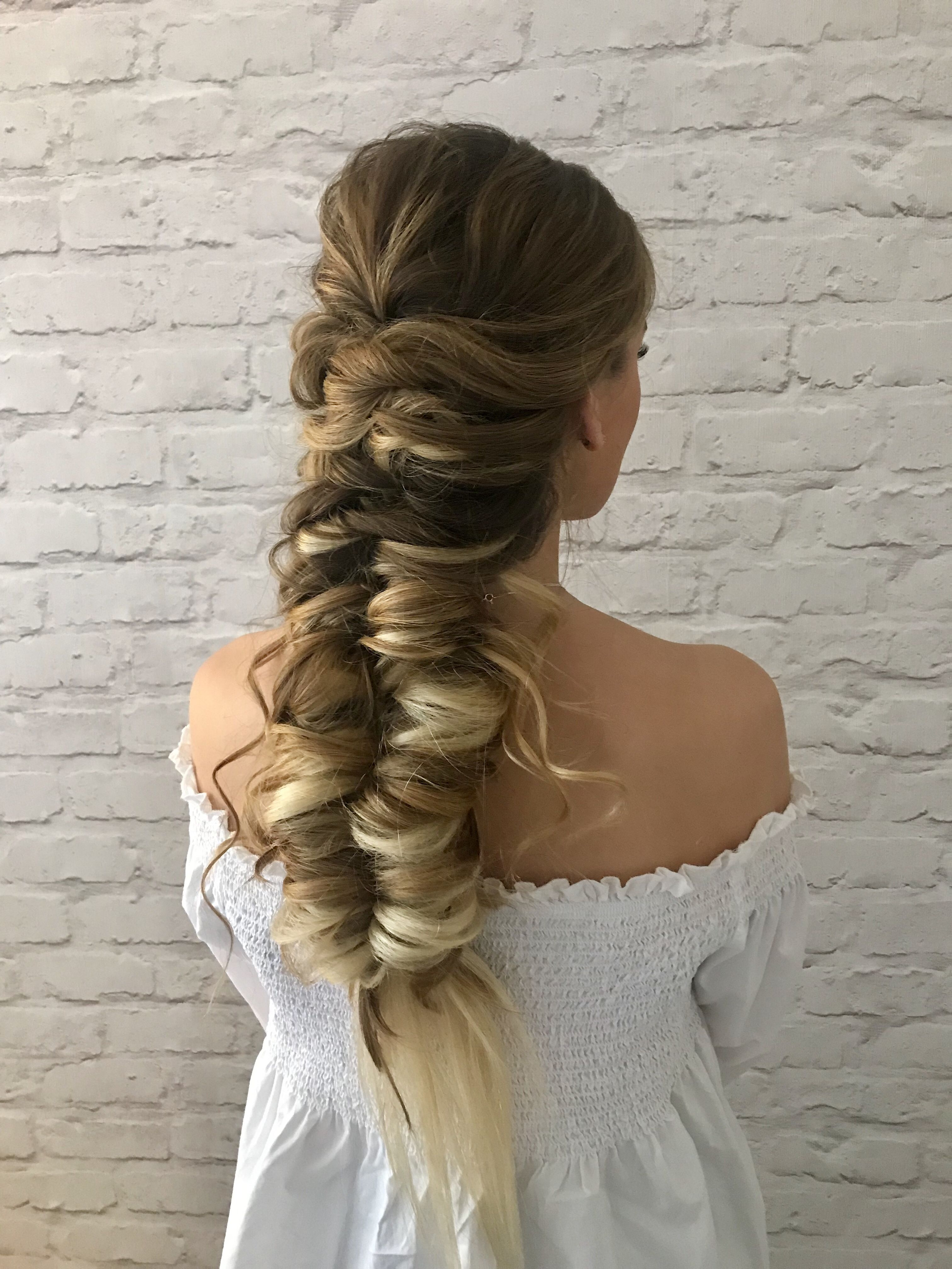 Pull Through Braid Braidedhairstyles Weddinghairstyles Updo
